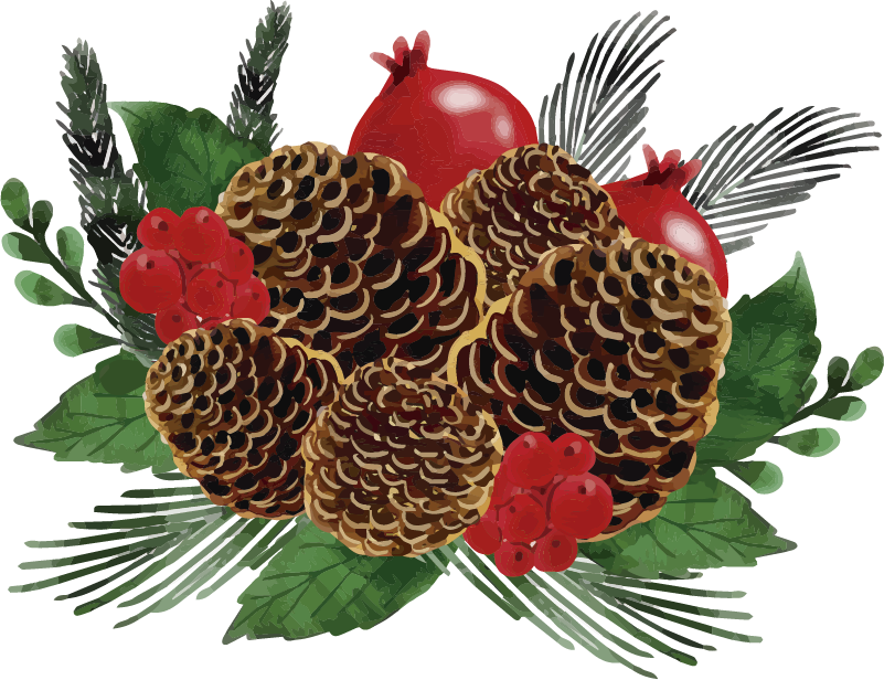 TenStickers. Christmas Pine Cone Wreath Wall Sticker. Furnish your home with this fantastic Christmas sticker, depicting a pine cone wreath! Discounts available.