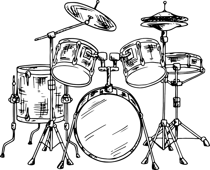 TenStickers. Drum Kit Wall Sticker. Decorate your home with drums, thanks to this fantastic wall decal! Choose your size. Easy to apply and remove. High quality.