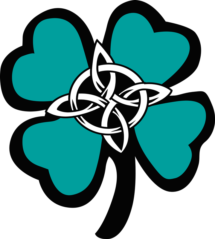 TenStickers. Celtic Four Leaf Clover Wall Sticker. Add the four leaf clover to any wall in your home with this fantastic wall sticker! Extremely long-lasting material.