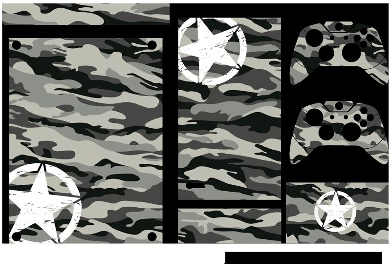TenStickers. Xbox迷彩风格皮肤贴纸. 用这个梦幻般的迷彩主题xbox皮肤贴纸装饰您的xbox! +10,000名满意的客户。