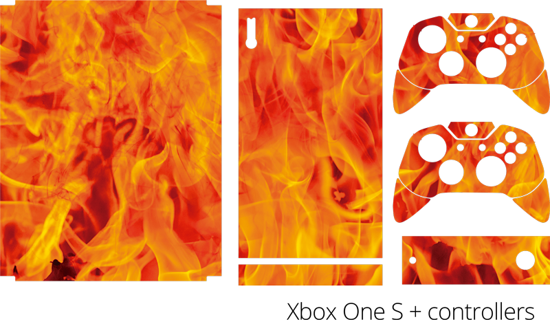TenStickers. Fire Xbox Skin Sticker. Add some flames to your Xbox with this wonderfully fiery Xbox skin sticker! Anti-bubble vinyl.