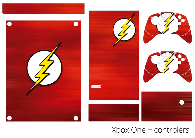 TenStickers. The Flash Xbox Skin Sticker. Add a touch of heroism to your PS4 with this fantastic Xbox skin sticker! Anti-bubble vinyl. Zero residue upon its removal.