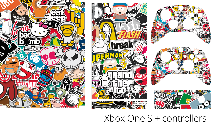 TenStickers. Classic Game Collage Xbox Skin Sticker. Add some classic games to your Xbox with this game-inspired Xbox skin sticker! Discounts available.