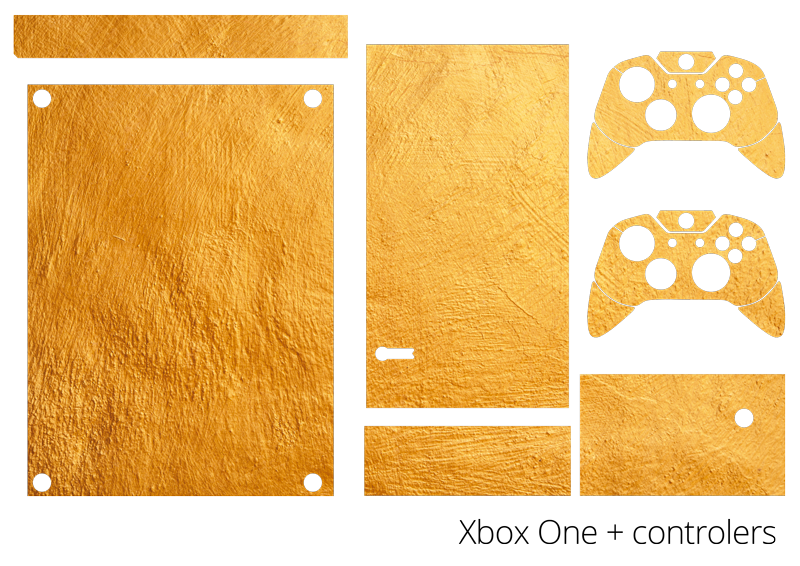 TenStickers. Golden Texture Xbox Skin Sticker. Add a touch of gold to your Xbox with this fantastic golden Xbox skin sticker! Personalised stickers.