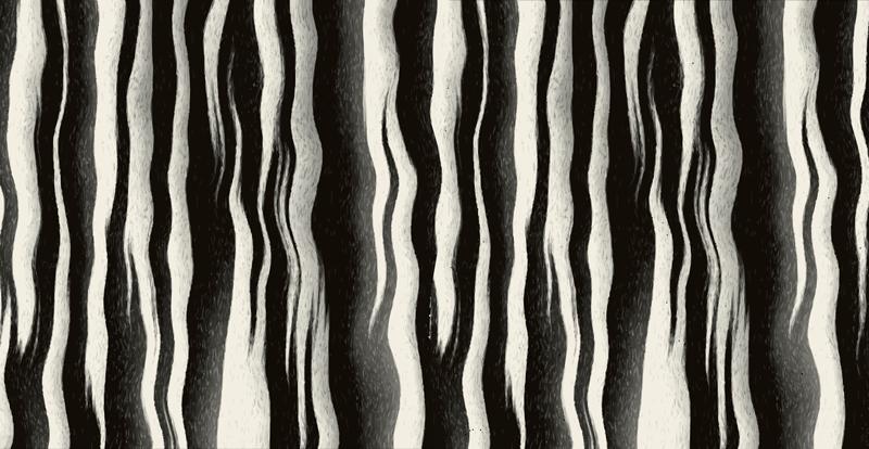 TenStickers. Pellicola adesiva mobile texture effetto zebra. Adesivo murale animale per mobile, che crea effetto originale. Soluzione semplice e di semplice applicazione. Per una decorazione originale!
