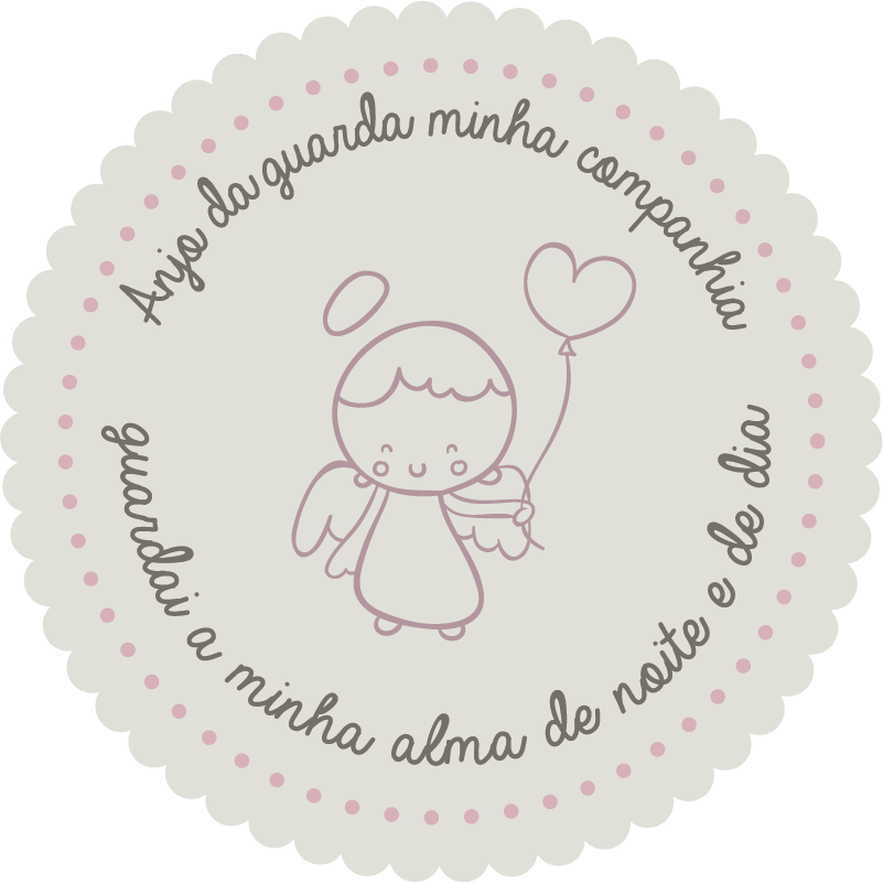 TenStickers. Guardian Angel baby wall decal. Guardian Angel nursery rhyme wall sticker for infant bedroom space. Available in any required size option. Easy to apply and adhesive.