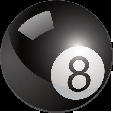 TenStickers. Sticker boule billard 8. Pour les fans de billard, personnalisez votre intérieur avec la dernière boule du jeu en sticker et gagnez la partie.