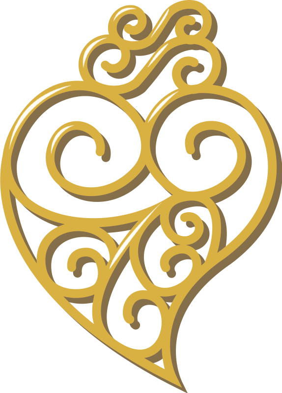 TenStickers. Viana's heart wall decal. A decorative ornamentalViana's heart wall sticker. Available in any required size. An Adhesive and easy to apply  design.