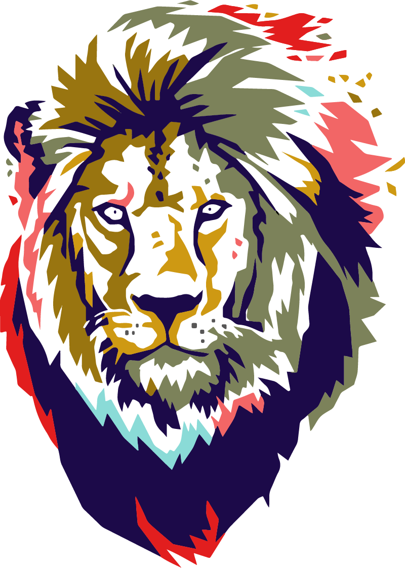 TenStickers. African Lion Wall Sticker. Pay homage to the colours of Africa with this glorious wall art sticker! Anti-bubble vinyl.