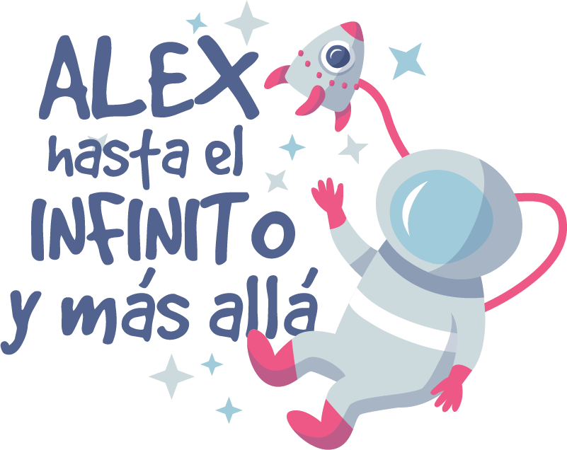 TenStickers. astronaut to infinity space decal. Personalisable name space wall sticker for children with the design of astronaut with movie quote. Easy to apply and available in any size.