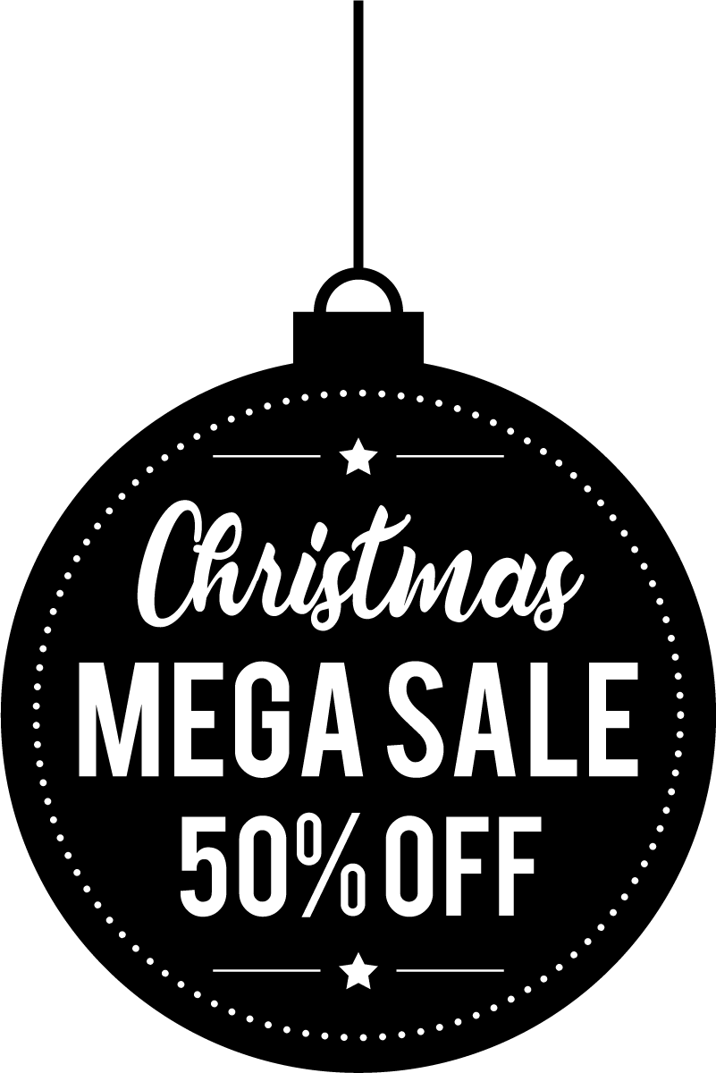 TenStickers. Christmas Sale Shop Window Sticker. Attract customers to your shop with this fantastic shop window sticker displaying your discounts! Easy to apply.