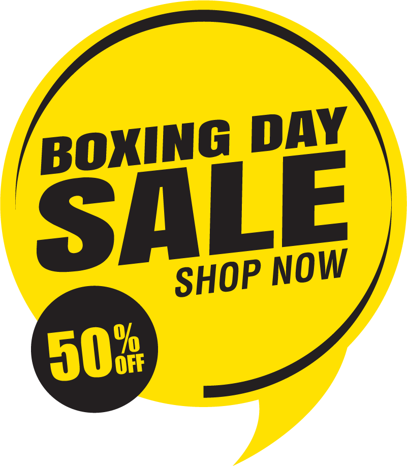 TenStickers. Boxing Day Sale Shop Sticker. Decorate your window for boxing day with this fantastic customisable sticker! Zero residue upon removal.