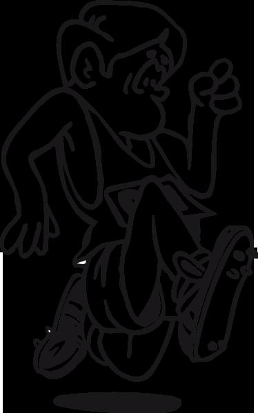 TENSTICKERS. ランナーイラスト子供ステッカー. キッズステッカー-走るキャラクターの楽しくて遊び心のあるデザイン。 50色のモンクロームイラストが用意されています。