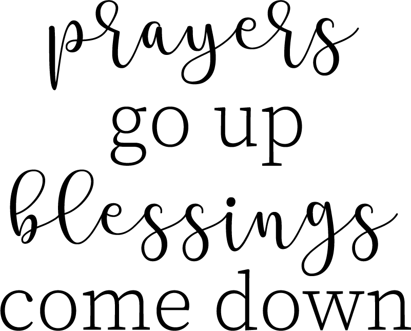 TenStickers. Prayers Up Stairs Sticker. Decorate your stairs with this fantastic religious quote! +10,000 satisfied customers.