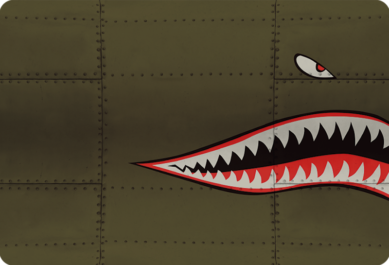 TenStickers. Flying Tigers Laptop Skin Sticker. Pay tribute to the air force with this fantastically stylish laptop skin sticker! Discounts available.