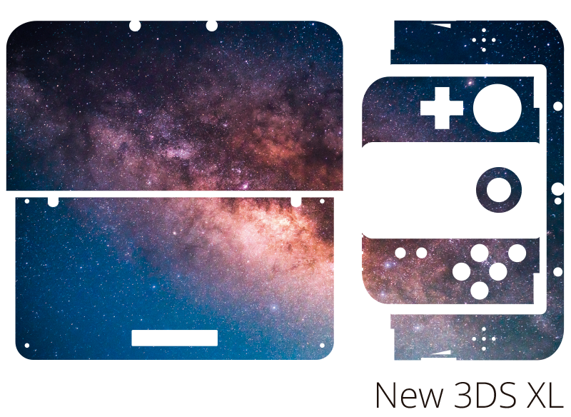 TenStickers. Galaxy Nintendo Skin Sticker. Add an intergalactic touch to your Nintendo with this fantastic skin sticker! +10,000 satisfied customers.