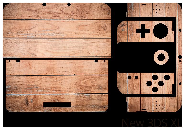 TenStickers. Skin para nintendo madeira. Vinil autocolante de padrões com texturas ideais para decorar a sua nintendo. Cores e medidas personalizáveis.