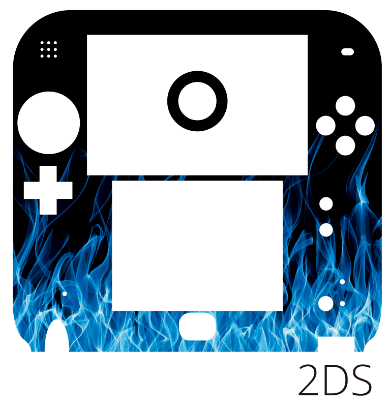 TenStickers. Blue Flames Nintendo Skin. Add some flames to your Nintendo with this brilliant console skin sticker! Easy to apply.