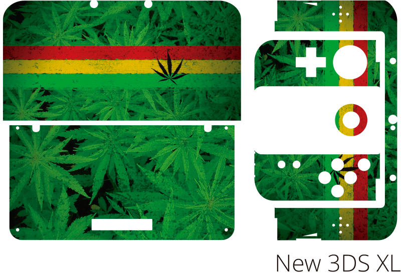TenStickers. Marijuana Nintendo Skin Sticker. If you love marijuana then you will surely love this Nintendo console sticker! Easy to apply.