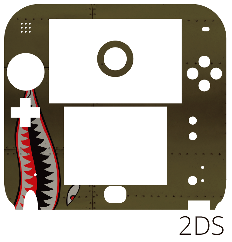 TenVinilo. Vinilo original Tiburón fuerzas aéreas nintendo. Original pegatina decorativa adhesiva para Nintendo con el diseño de la boca de un tiburón sobre textura metálica. +50 Colores Disponibles.
