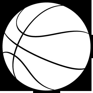 Adesivo Murale Pallone Basket Contorno Tenstickers
