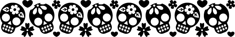TenStickers. Mexican skulls border decal. An ornamental skull wall art border stickler for home decoration. Available in different colour options. Easy to apply and adhesive.