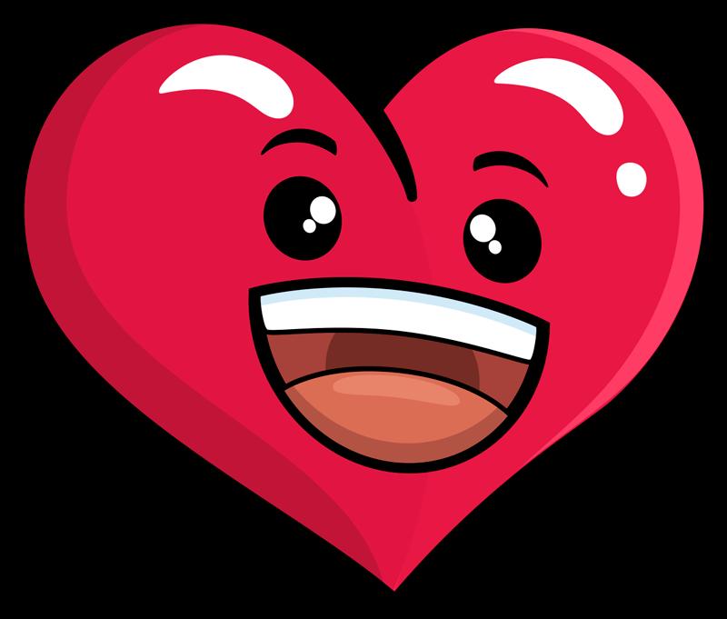 TenVinilo. Sticker de amor Corazón emoticono. Original  pegatina adhesiva con temática amorosa formada por el diseño de un corazón personificado. Atención al Cliente Personalizada.