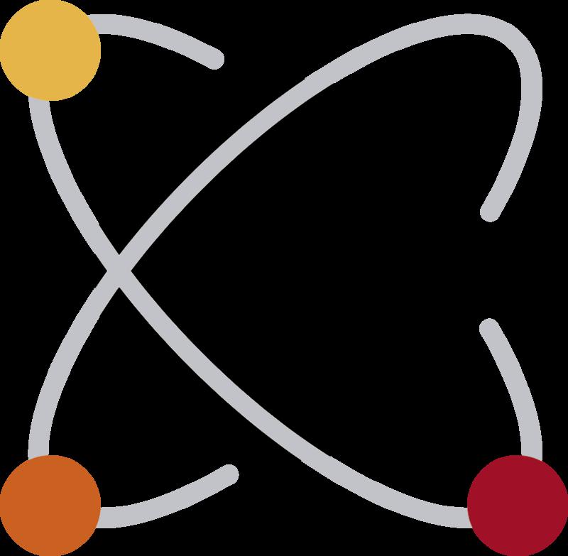 TenVinilo. Vinilo para portátiles Átomo. Original pegatina adhesiva para portátil o tablet con temática de ciencia formada por la ilustración de un átomo. Descuentos para nuevos usuarios.