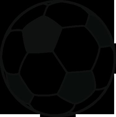 TenStickers. Adesivo bambini pallone da calcio. Sticker decorativo di un pallone da calcio, dedicato agli appassionati di questo sport. Ideale per la cameretta dei bambini.
