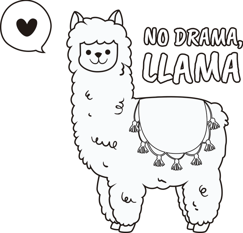 TenStickers. Llama Laptop Sticker. Decorate your laptop with this superb decal, depicting the humble llama! Personalised stickers.