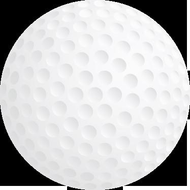 TenStickers. Autocolante para parede de bola de golfe. Autocolantes desportivos - adicione um toque desportivo a qualquer sala com esta ilustração da bola de golfe. Ótimo para decorar quartos de crianças.
