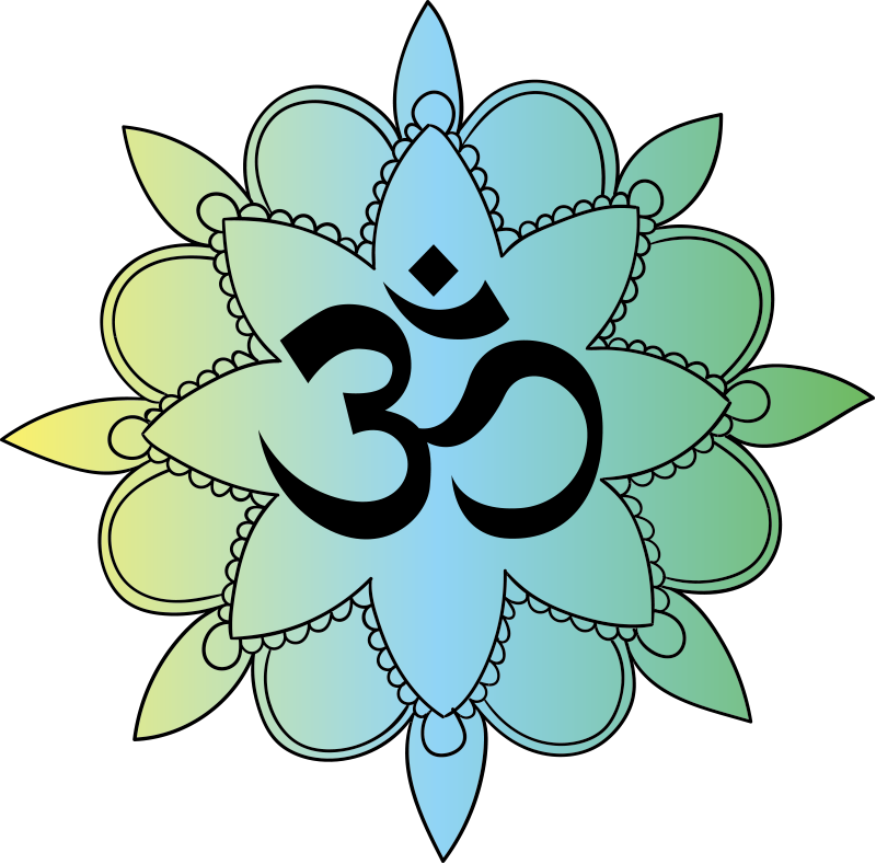 TenStickers. Om symbol laptop skin. An adhesive om symbol vinyl decal with ornamental flower design to decorate a laptop surface. Available in different sizes and easy to apply.