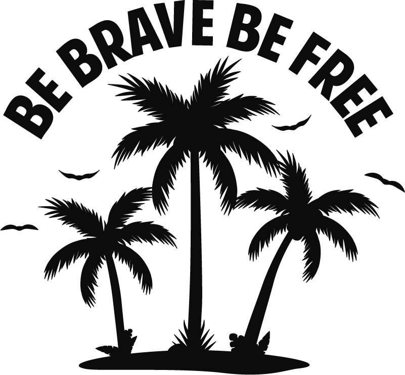 TenStickers. Be Brave Be Free Vehicle Sticker. Add a motivational touch to your vehicle with this superb text decal! Discounts available.