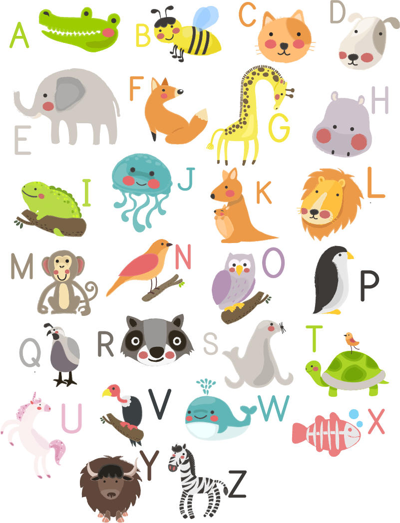 TenStickers. Animal Alphabet Wall Art Stickers. Help your child learn the alphabet with this brilliant wall art sticker! Available in 50 colours.