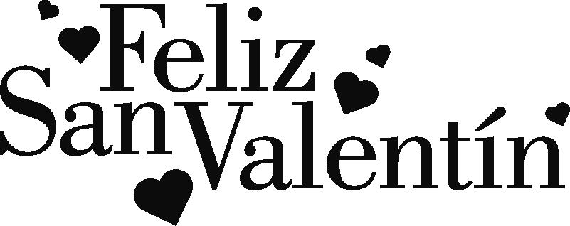 """TenVinilo. Vinilo empresa Día de los enamorados. Pegatina adhesiva monocolor formada por el texto """"Feliz San Valentín"""" y acompañada de varios corazones. Descuentos para nuevos usuarios."""