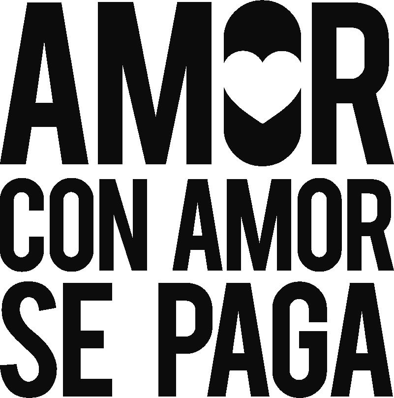 """TenVinilo. Sticker Dicho de amor. Original vinilo adhesivo monocolor formado por el dicho de amor """"Amor con amor se paga"""". Compra Online Segura y Garantizada."""