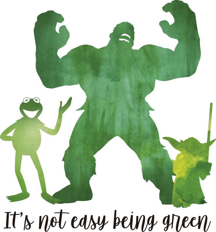 TenStickers. Sesame Street Green Quote Wall Sticker. It really is not easy being green, so show your solidarity with Kermit thanks to this fantastic wall art decal! Sign up for 10% off.