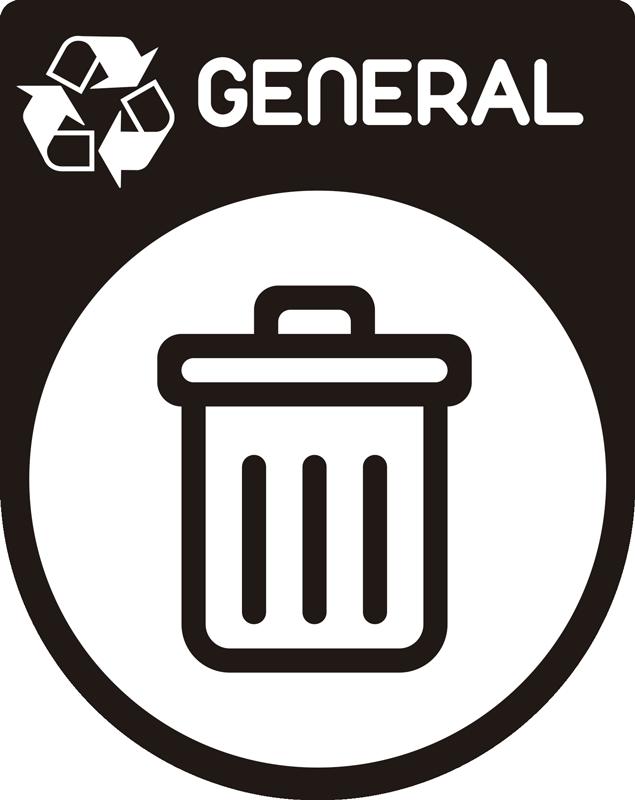 TenVinilo. Vinilo icono reciclaje basura general. Pegatina adhesiva formada por el icono de la basura general ideal para clasificar los contenedores de tu hogar. Fácil aplicación y sin burbujas.