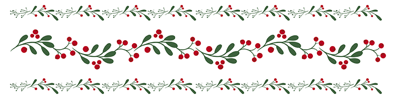 TenStickers. fir garland border decal. Decorative ornamental border sticker for home created with fir garland. Easy to apply and available in any required size.