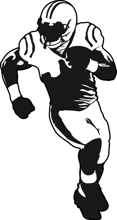 TenStickers. American Football Player Wall Sticker. Sports Stickers - Add a sporty touch to any room with this illustration of an American football player. Great for decorating kids´rooms. Ideal for fans and sports-related organisations.