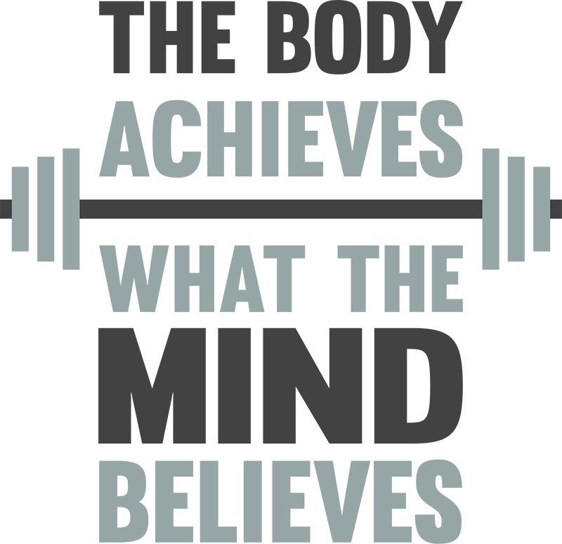 TenStickers. The Body Achieves Wall Text Sticker. Decorate your home with this fantastic wall text sticker, depicting a hugely motivational exercise quote! Discounts available.