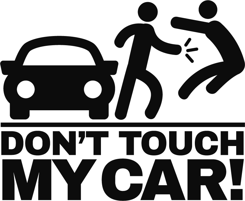 TenStickers. Don´t Touch My Car Vehicle Decal. Add a monocolour piece of humorous car decor to your vehicle with this fantastically funny car sticker! Discounts available.