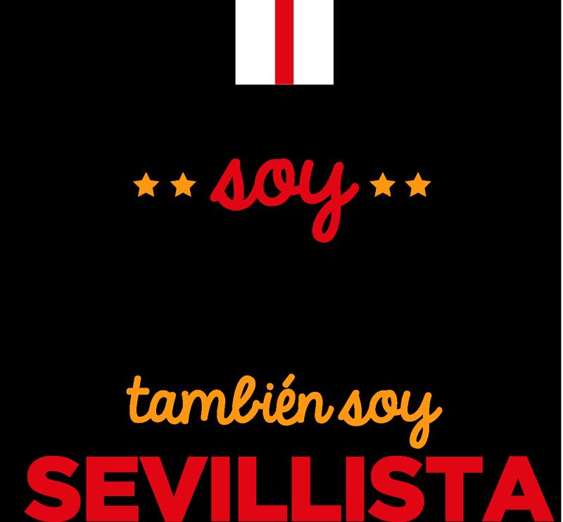 """TenVinilo. Vinilo deporte soy del Sevilla. Pegatina de fútbol formada por el texto """"No solo soy perfecto, también soy sevillista"""" en los colores del club. Fácil aplicación y sin burbujas."""