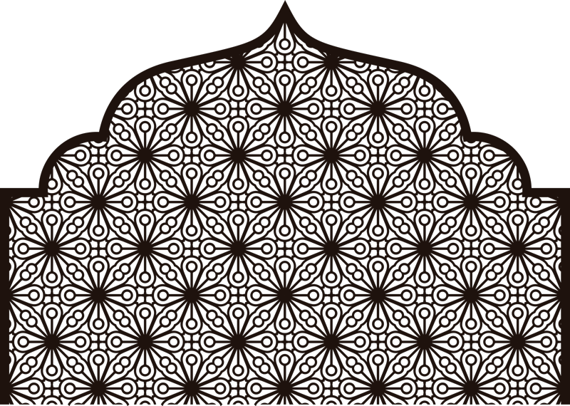 TenStickers. Sticker Mural Motifs Ornementaux Arabes. Un autocollant pour tête de lit aux motifs orientaux et au style arabe pour vous emmener chaque nuit dans le monde merveilleux des mille et une nuits