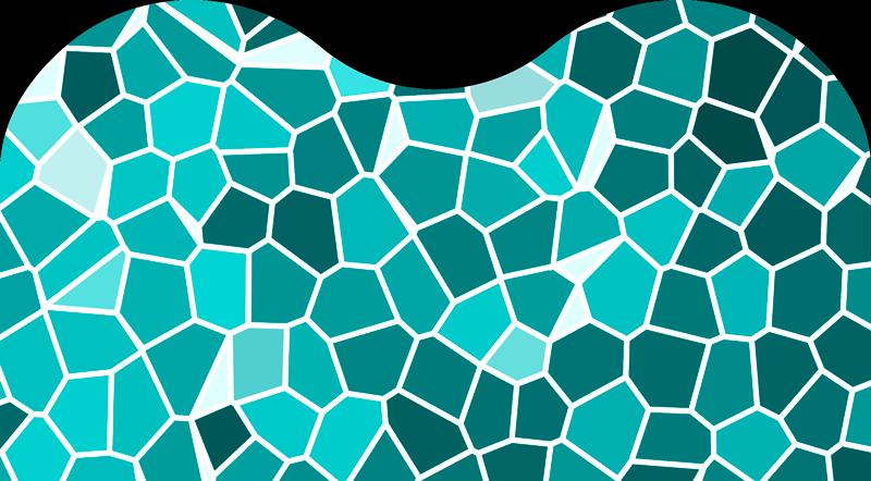 TenVinilo. Vinilo pared Mosaico abstracto. Original vinilo adhesivo para cabecero con el diseño de un mosaico en tonos turquesa. Promociones Exclusivas vía e-mail.