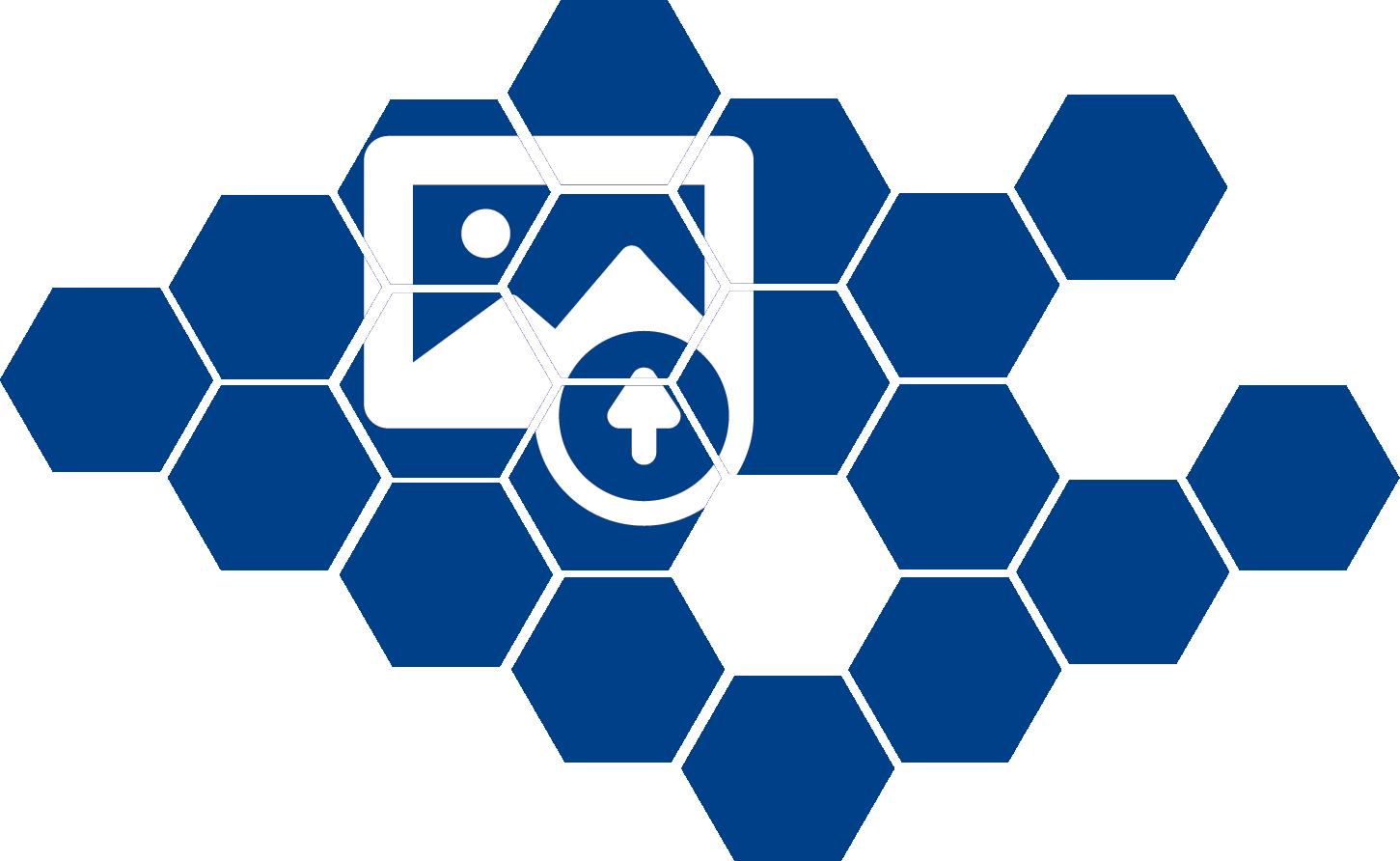 TenVinilo. Vinilo pared Mosaico geométrico. Vinilo para cabecero formado por una composición de hexágonos, la cual se puede personalizar con la imagen que desees. +50 Colores Disponibles.