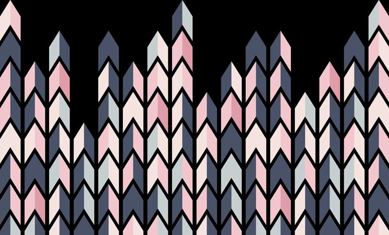 TENSTICKERS. 抽象的な三角形のヘッドボードの壁のステッカー. 抽象的な三角形アセンブリパターンの壁のステッカー。リビングルームとベッドルームの両方に使用できるマルチカラーのデザイン。簡単に適用できます。