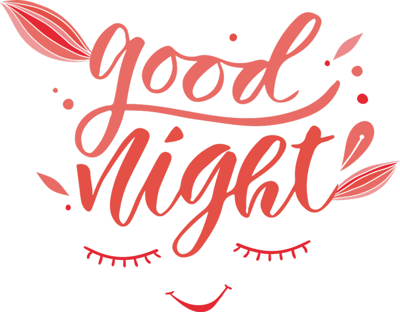 TenStickers. Good Night Wall Text Sticker. Always wish yourself good night with this fantastically soothing and peaceful wall art sticker! Available in 50 colours.