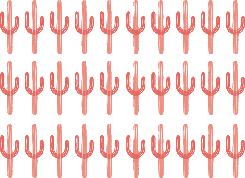 TenVinilo. Vinilo de cactus pequeños para decorar. Vinilo decorativo de color coral con cactus a colocar según tus gustos y conseguir una decoración exclusiva ahora ¡Envío a domicilio!