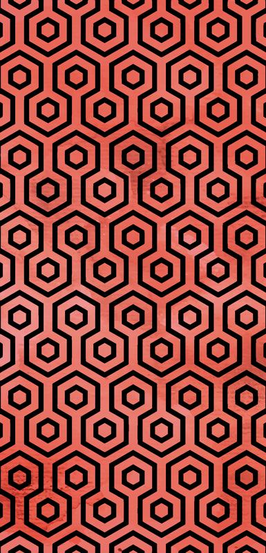 TenStickers. Sticker Maison Texture Geométrique Coral. Découvrez comment vous pouvez changer la décoration d'une des pièces de votre maison avec notre sticker forme géométrique. Service Client Rapide.